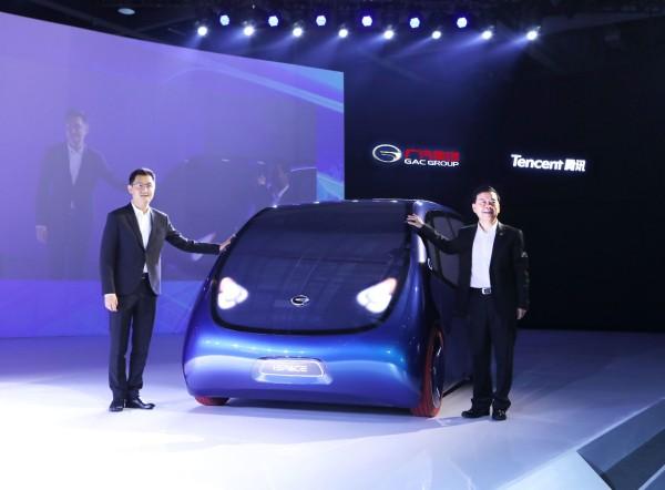 广汽腾讯智能网联合作成果展现 iSPACE智联电动概念车首发
