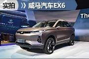 """新能源又添""""战将"""" 北京车展实拍威马EX6"""