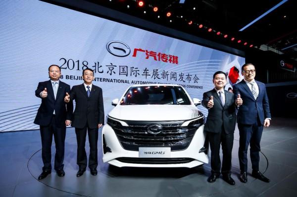 传祺GM6全球首发,广汽传祺全明星阵容闪耀北京车展