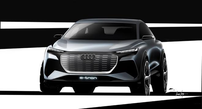 日内瓦车展首发 奥迪Q4 e-tron概念车草图