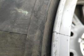 车辆轮毂在正常使用下自然开裂