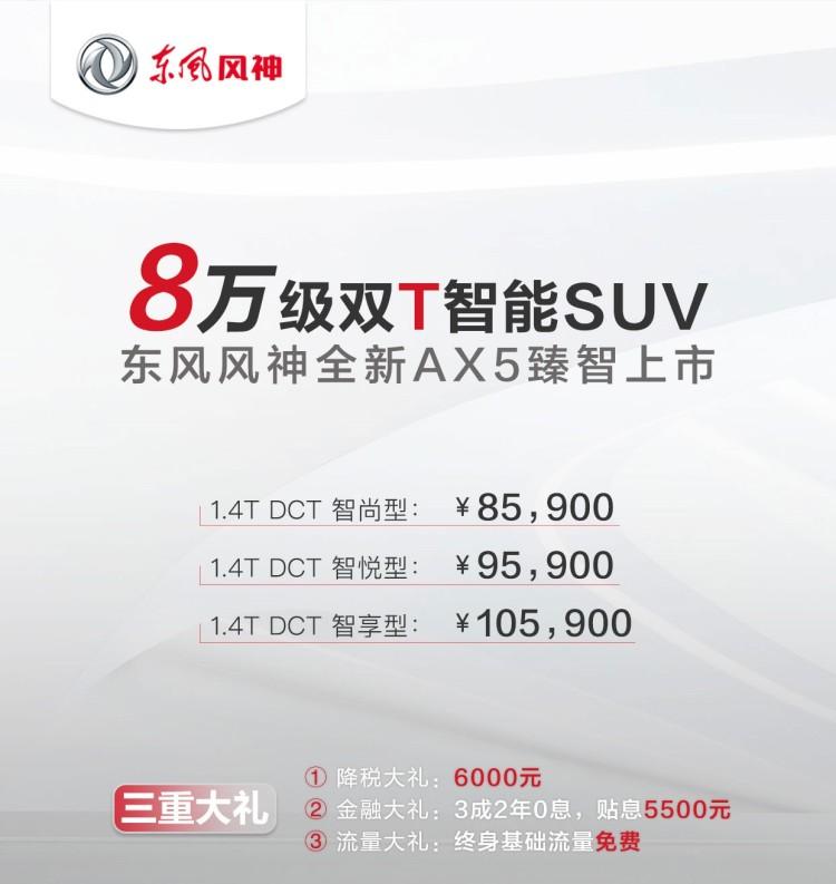 售8.59-10.59万元 新款东风风神AX5上市
