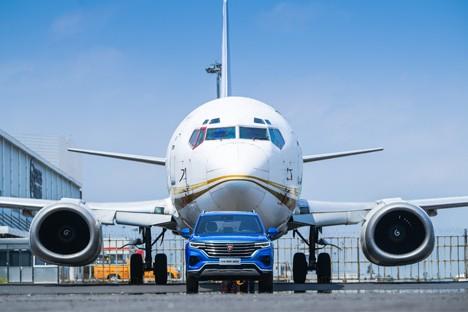 硬核中国芯&nbsp荣威RX5&nbspMAX成功牵引波音737