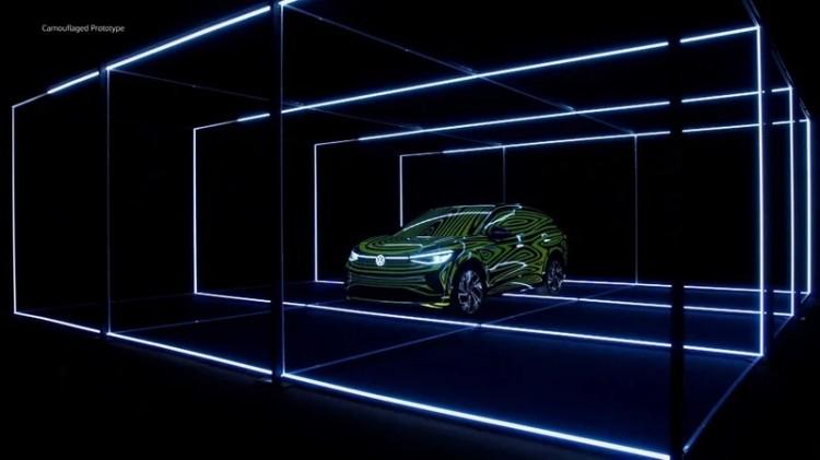 定位跨界SUV 大众发布全新电动SUV预告图