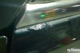 奇瑞艾瑞泽7车门亮条边沿漆面鼓包生锈