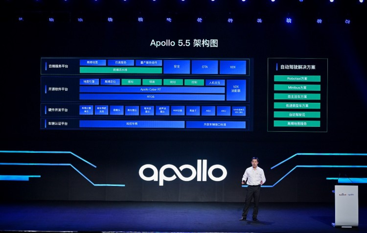 "Apollo5.5升级发布中国首套自主泊车解决方案 实现""最后一公里自动驾驶"""