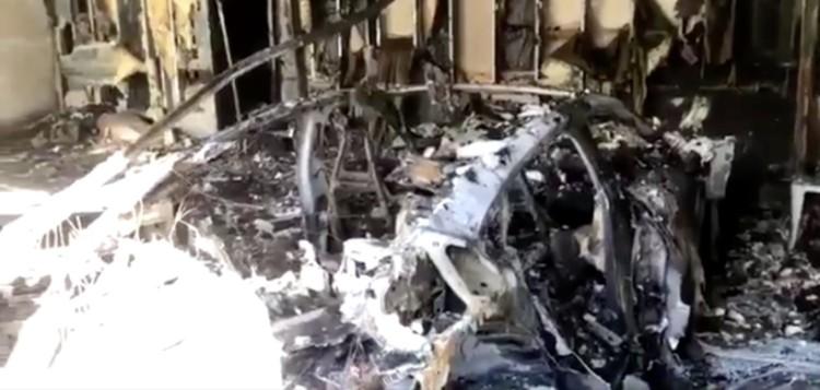 佛罗里达州一辆保时捷Taycan起火