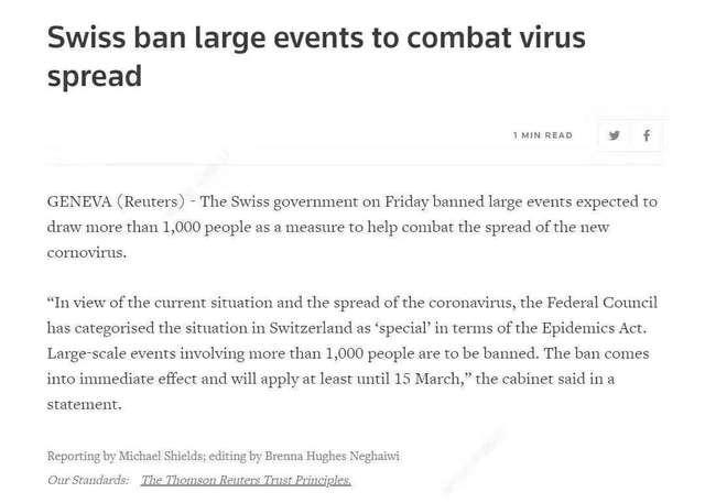 日内瓦车展正式宣布取消!瑞士为阻止新冠肺炎 暂停所有大型公共活动