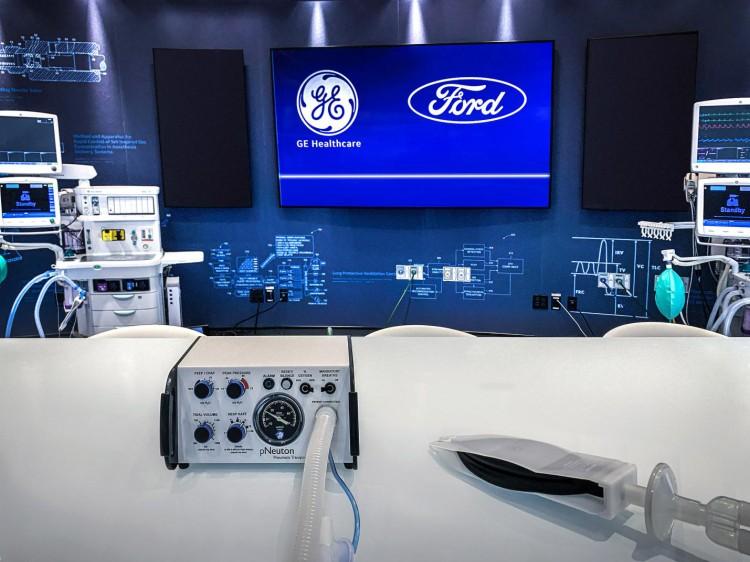 100天生产5万台 福特汽车与GE医疗进一步合作生产新款呼吸机