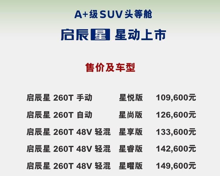 """售价10.96万元-14.96万元,""""A+级SUV头等舱""""启辰星合肥区域上市圆满结束"""