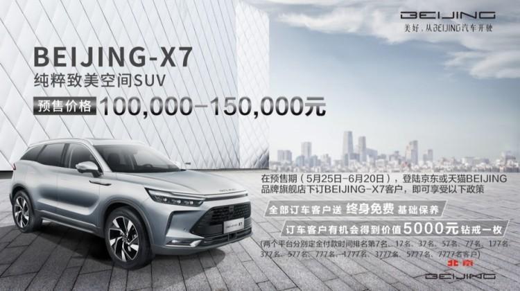 更前卫/更智能 全新BEIJING-X7预售10-15万元
