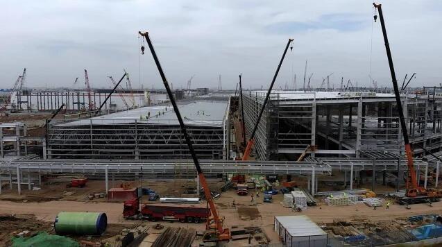 特斯拉上海工厂Model Y厂房建设工作进展神速 或年内投产