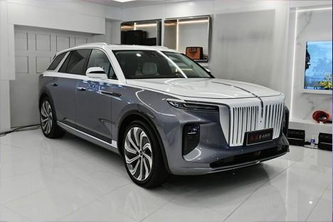 国产新旗舰SUV&nbsp北京车展实拍红旗E-HS9