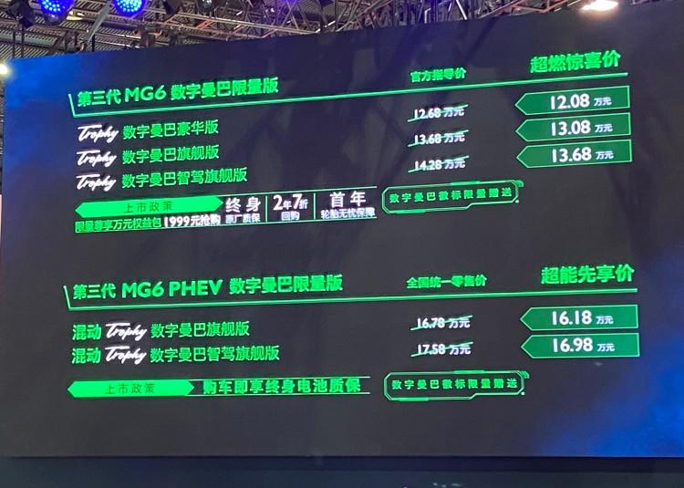 广州车展:MG6数字曼巴限量版售12.68万起