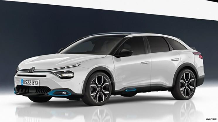 或上海车展亮相 新一代雪铁龙C5渲染图