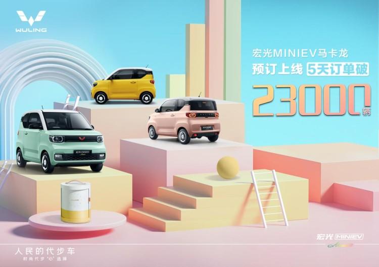 5天收获2.3万订单 宏光MINIEV马卡龙将4月8日上市