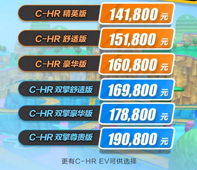 新增2.0L混动版可选 广汽丰田新款C-HR售14.18万起