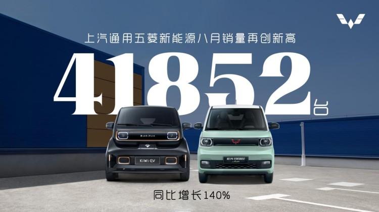 41852台!上汽通用五菱八月新能源销量再创新高