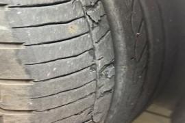 东风本田19款思域轮胎掉皮严重