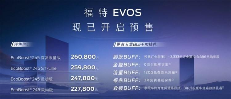 溜背造型,座舱有惊喜,福特EVOS将11月份上市