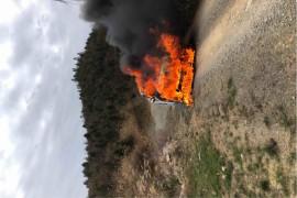 发动机仓内线路起火自燃