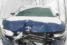 车撞到大树上。气囊一个没有弹出,车损报废。