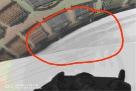 吉利星越新车前盖油漆面有处理过,疑似事故车。