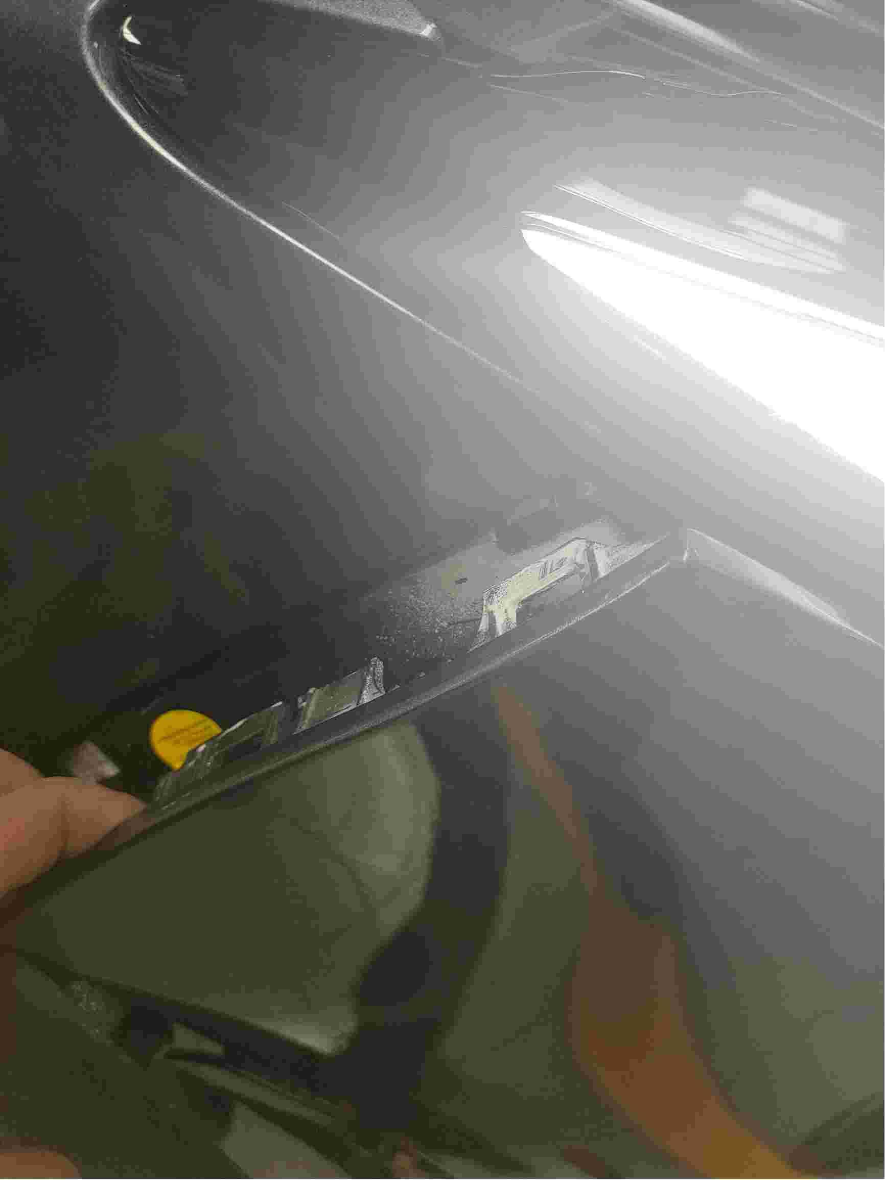 车出售前有小划痕进行过抛光打蜡销售 购车人不知情